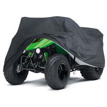 190T Black ATV Motor Scooter Motorbike Covers Waterproof Rain Proof Dust UV Sun Protector D30 200x90x100cm black silver 190t waterproof motorcycle covers outdoor indoor motorbike scooter motor rain uv dust protective cover