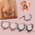 Кольцо-Кольцо из нержавеющей стали для пирсинга носа и уха ушной хрящ Daith Helix, 1 шт.