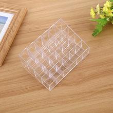 24 Grid Transparent Acrylic Makeup Organizer Storage Box Cosmetic Box Lipstick Jewelry Box Case Holder Display Stand Make Up недорого