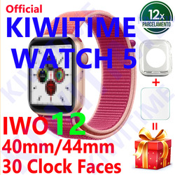 KIWITIME Watch 5 IWO 12 Bluetooth Smart Watch 1:1 SmartWatch 40mm 44mm Case for Apple iOS Android phone Heart Rate PK IWO 11