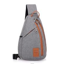Мужской парусиновый нагрудный мини рюкзак небольшой водонепроницаемый путешествия модное на одно плечо сумка для хранения
