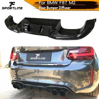 Carbon Fiber Rear Lip Diffuser Spoiler For BMW 2 Series F87 M2 Rear Bumper Spoiler Car Styling Back Diffuser f87 m2 carbon fiber rear trunk wing spoiler for bmw f87 f22 220i 228i m235i 2014 up m4 style rear lip wing boot spoiler