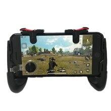 Pubg moibleコントローラ送料無料火災L1 R1トリガーpugb携帯ゲームパッドグリップL1R1ジョイスティックiphoneアンドロイド電話用