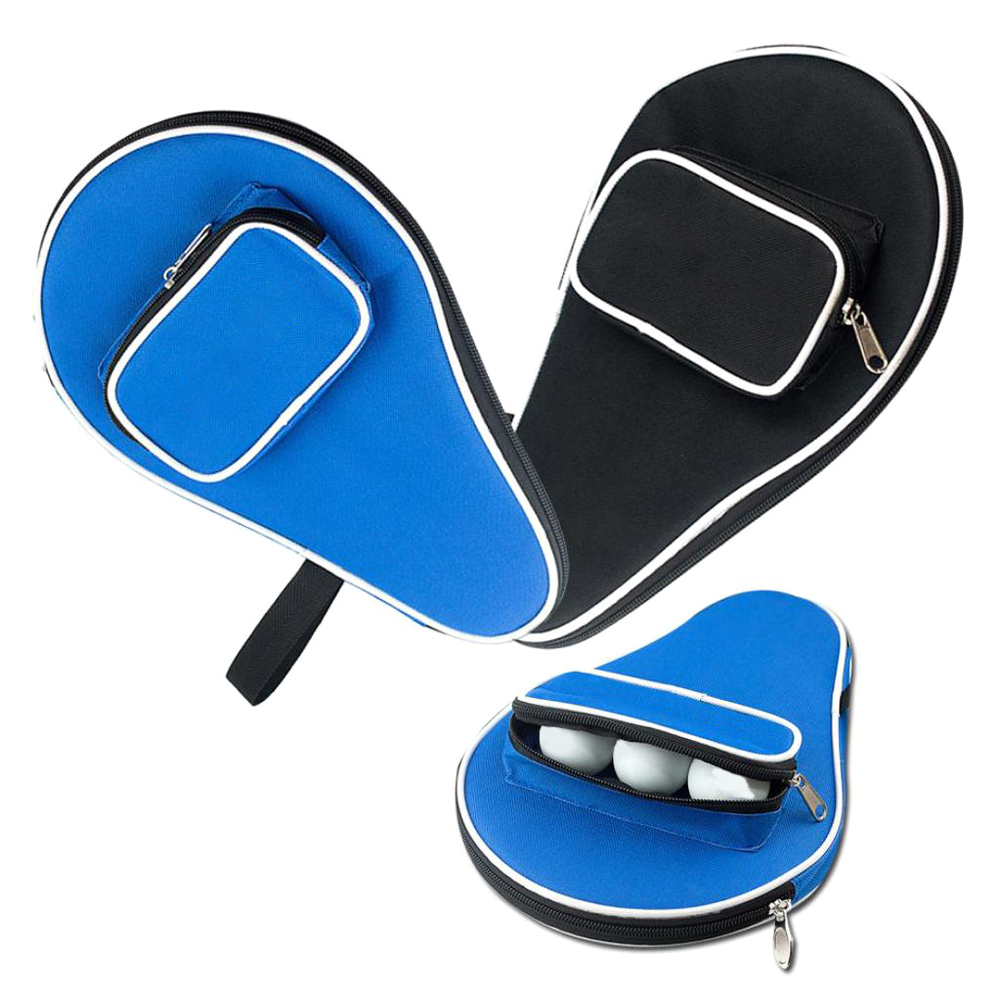 Professional Table Tennis Rackets Case Bat Bag Oxford Ping Pong Cover Holding 3 Balls 30x20.5cm