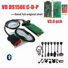 Vd Tcs C-D-P 2016R0 Keygen con Bluetooth New Vci 3.0 Pcb di Scansione per Delphis Vd DS150E C-D-P Obd2 Strumento Diagnostico + 8 Pc Auto Cavo(China)
