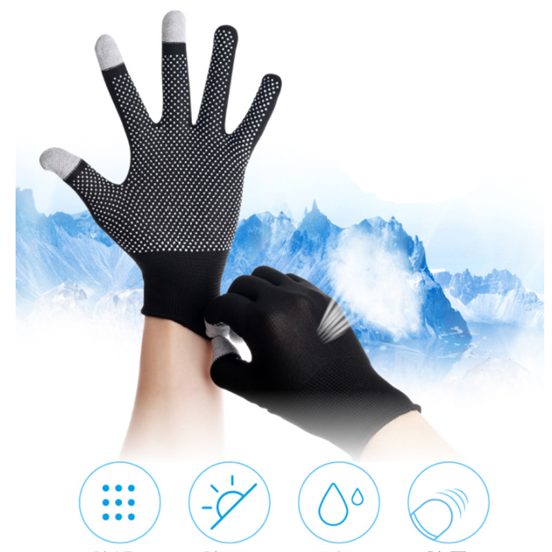 Breathable Anti-skid Touch Screen Gloves Summer Thin Riding/Driving/Mountaineer Wrist Gloves Men Women Sport Running