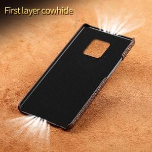 Image 3 - Funda de teléfono de lujo de cuero genuino para Huawei Mate 20 pro P40 Pro P30 Lite P20 Pro Y7 Y9 para Honor 20 Pro 10 Lite 8X 10i