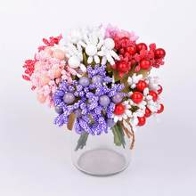 10pcs Craft Flowers Materials Home Wedding decoration Flowers Diy Gift Box Wreath Artificial Berry Fruit(China)