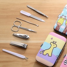 7pcs/set New Manicure Nail Clippers Pedicure Set Portable Travel Hygiene Kit Stainless Steel Nail Cutter Tool Set 7pcs set new manicure nail clippers pedicure set portable travel hygiene kit stainless steel cutter tool set