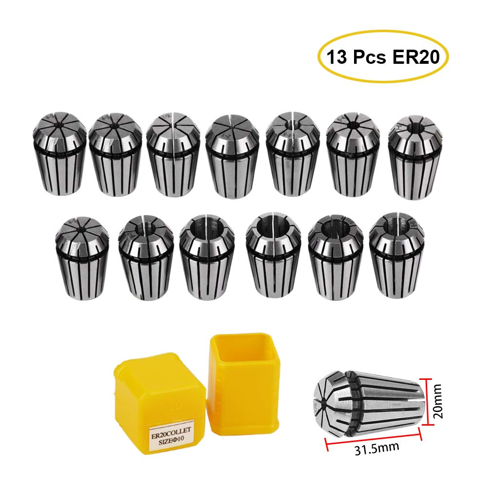 ER20 1mm-13mm Collet Tool Precision Spring Collet Set Fro CNC Collet Chuck For Milling Lathe Tools