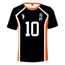 Summer New Hinata Shoyo Shadow Mountain Tobio T-shirt Cosplay Costume Karasuno Volleyball Club Adult Men Children Top 2021 Anime