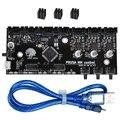 Peças de Impressora Bigtreetech 3D Clonado I3 Mk3 Mmu2 Multi Board Material de Atualização 2.0 Milímetros Placa De Controle com Tmc2130 Chip Controlador f