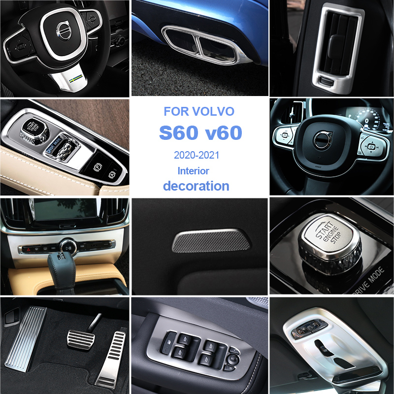 Car styling for Volvo s60 v60 2020-2021 decoration/ABS/stainless steel car interior trim strip auto parts car sticker