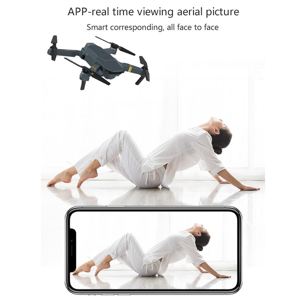 E58 Portable Foldable Drone 720P/1080P/4K HD Wide Angle Aerial Photography Drone Quadrotor RC Drone with Tracking Shooting-3