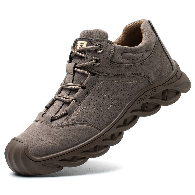 Men's Boots Steel Toe Cap Labor Protection Shoes Men Work Safety Shoes Smash-resistant Puncture-proof Welding Shoes