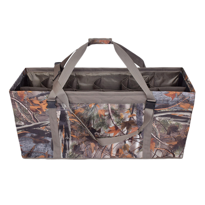 12 Slot Duck Decoy Bag ,Slotted Decoy Bags With Adjustable Shoulder Strap Dirt Drain Design For Duck Decoys