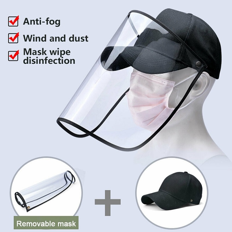 Multi-function Protective Cap Coronary Virus Protective Hat Eye Protection Anti-fog Windproof Hat Anti-saliva Face Cover Cap