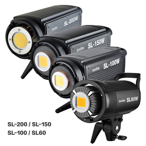 Image 2 - Godox SL60W SL100W SL150W SL200W LED Video Continuous Light +Barn Door Grid Filter 5600K SL 60W SL 100W SL 150W SL 200W Lighting