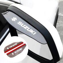 2Pcs Car Rearview Mirror Rainproof Eyebrow Rain Cover Flexible PVC Rain Blade For Suzuki Swift Jimny Swift Vitara Samurai Grand