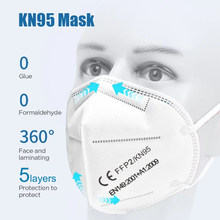 Máscara FFP2 facial de protección de polvo, mascarilla KN95 con filtración al 95%, PM2.5, tapabocas