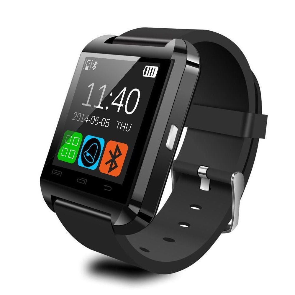 Bluetooth <font><b>smart</b></font> <font><b>watch</b></font> U8 Armbanduhr für <font><b>iPhone</b></font> <font><b>6</b></font> 7 und Android Telefon Smartwatch image