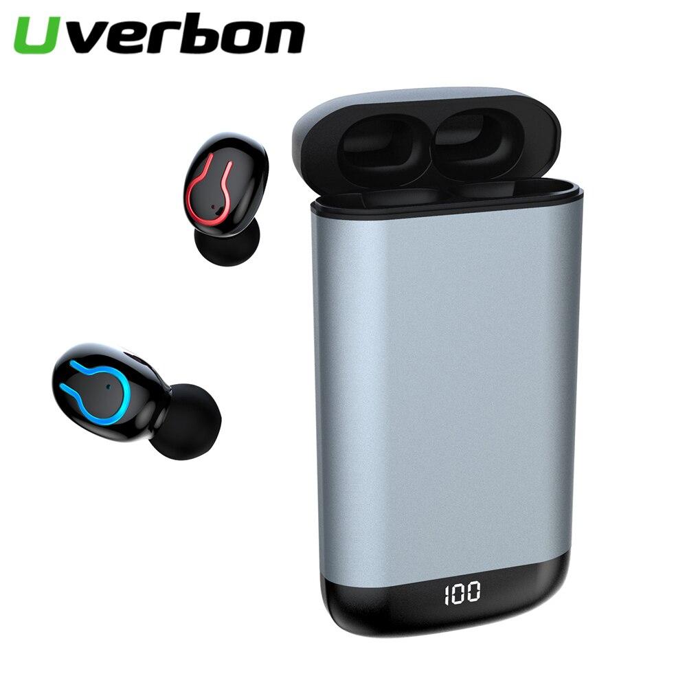 Q66 беспроводные V5.0 Bluetooth наушники спортивная водонепроницаемая гарнитура для Android головной убор с светодиодный дисплей 6000 мАч чехол для зар