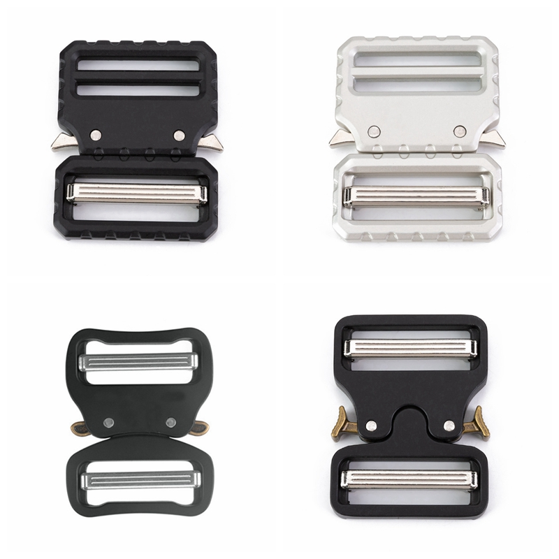 Quick Side Release Metal Strap Buckles For 38mm Wide Webbing DIY Bags Luggage Clothes Accessories Webbing Clip Belt Buckles
