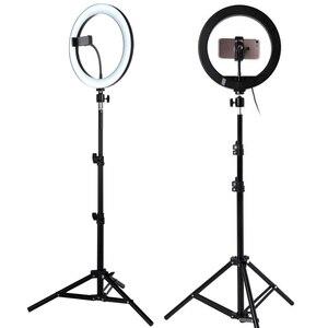 """Image 5 - 10 """"USB Selfie Vòng Sáng Đèn Âm Trần LED Selfie Vòng Ánh Sáng Với 3 Chân Cho Điện Thoại Video Trực Tiếp Studio Chụp Ảnh ringlight Bộ"""