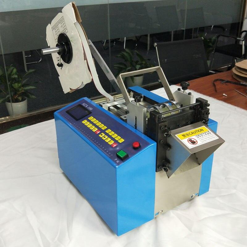 HZX 100 автоматическая термоусадочная трубка резак, Резиновая полоса, силиконовые трубы, ПВХ, ПУ, стекловолоконная трубка проволока веревка ма...