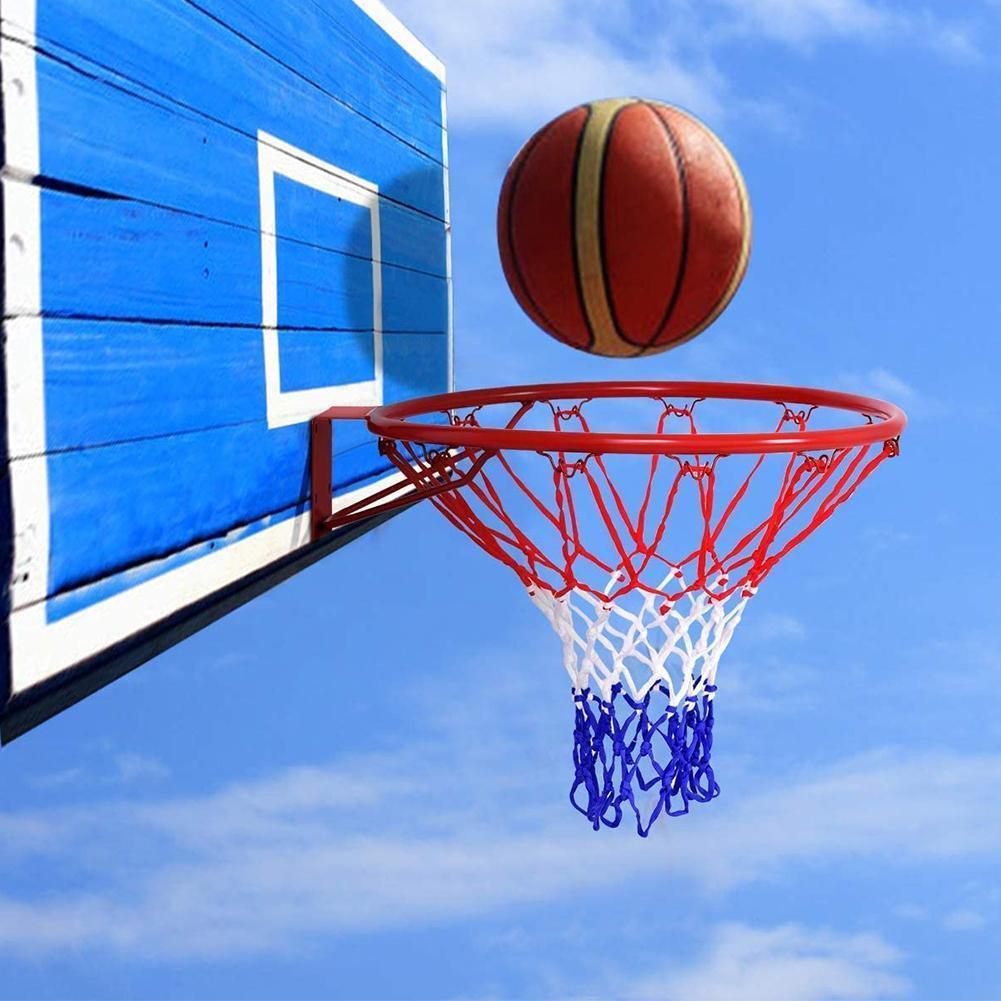 6 Mm Basketball Rim Mesh Net Durable Basketball Net Net Mesh Standard Goal Nylon Hoop Rims Duty Rim Fits Heavy Basketball Q4N0