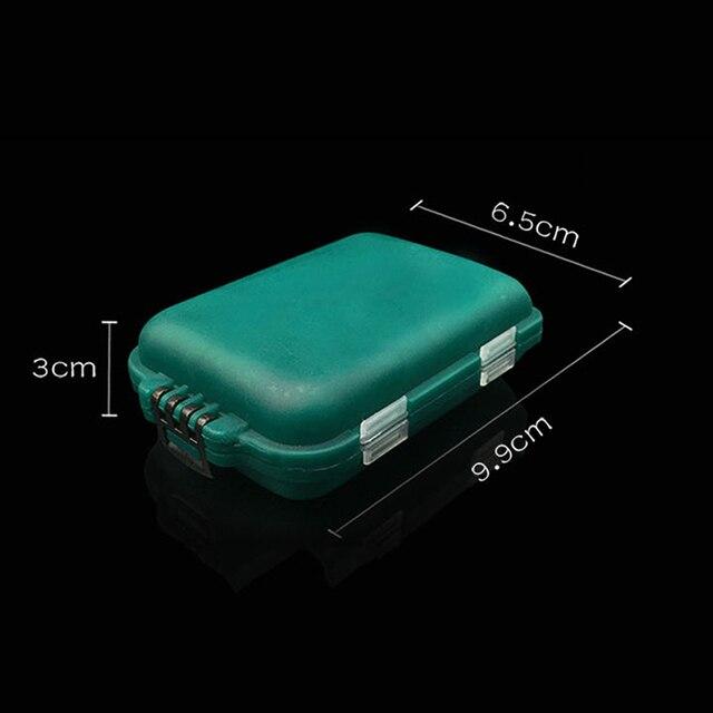 10 compartimentos mini caixa de equipamento de pesca iscas de peixe ganchos iscas titular de armazenamento de plástico caso quadrado caixa de gancho de pesca accessori