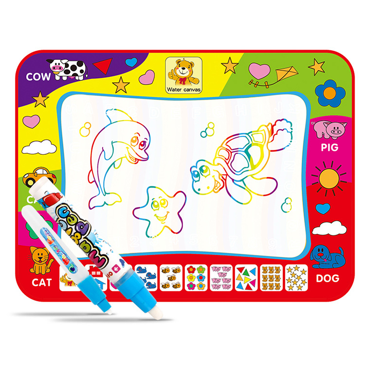 Children Magic Rainbow-colored Magic Water Canvas Doing Homework Blanket Graffiti Educational Early Childhood Toy 79X59.5 Canvas