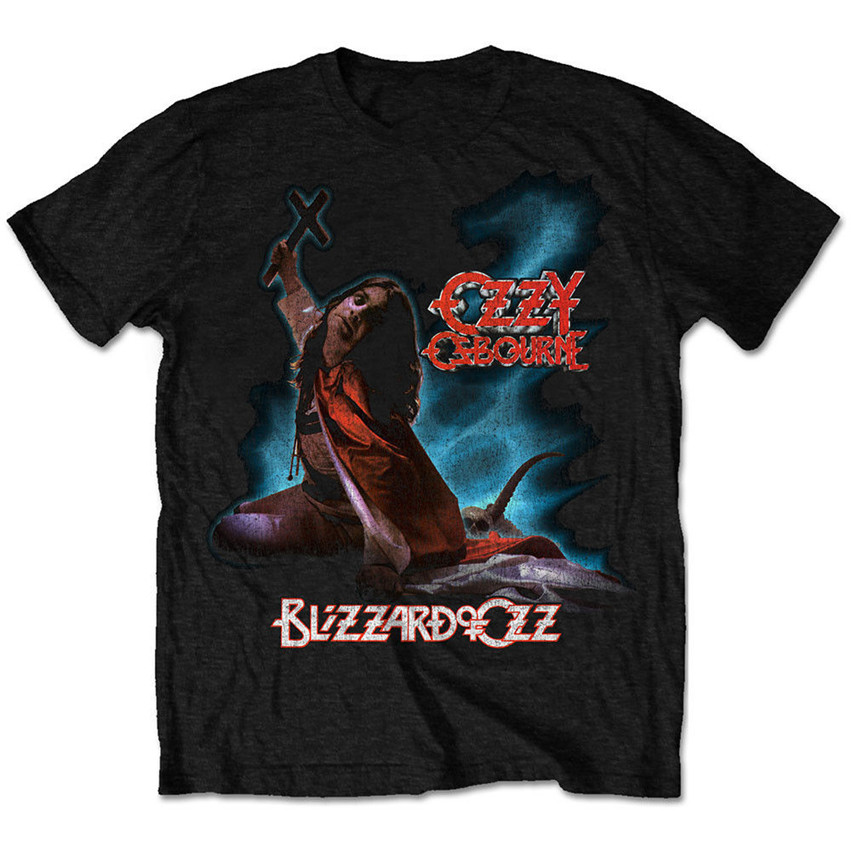 Unique T Shirts Funny O Neck Short Sleeve T Shirt Ozzy Osbourne 'Blizzard Of Oz ' For Men Gyms Fitness