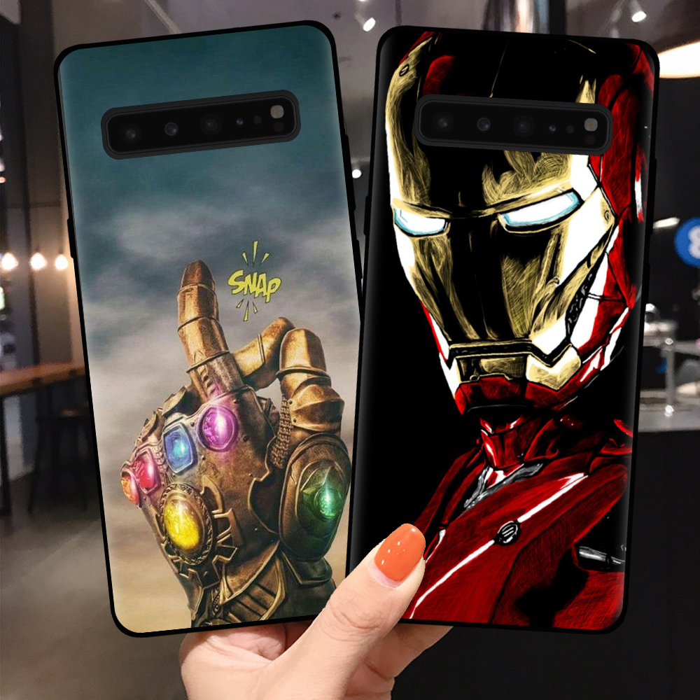 Cool Marvel Thanos Iron Man Silicone Phone Case Cover For Samsung S11 S10 S9 S8 Plus S7 Edge S10E S11e Lite 5G Shell Coque Skin