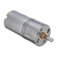 1 pieza equipo eléctrico caja Motor 12V CC 1000RPM 4mm eje alto par Mini caja de engranajes eléctricos aleación de Metal motores 25*70mm