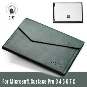 Чехол для планшета из натуральной кожи для Microsoft Surface Pro 3 4 5 6 7 , чехол для ноутбука Surface Pro X 12,3 дюймов , сумка для компьютера