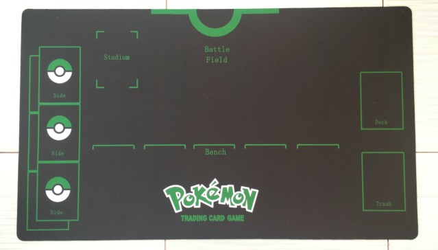 Takara Tomy PTCG Accessories Pokemon Card Game Table Playmat Black Green Mat Battle Arean Toys For Children
