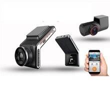 Sameuo u2000 traço cam frente e traseira wifi 1080p dupla lente da câmera do carro dvr 2k carro inteligente dvrs visão noturna automática 24h estacionamento monitor