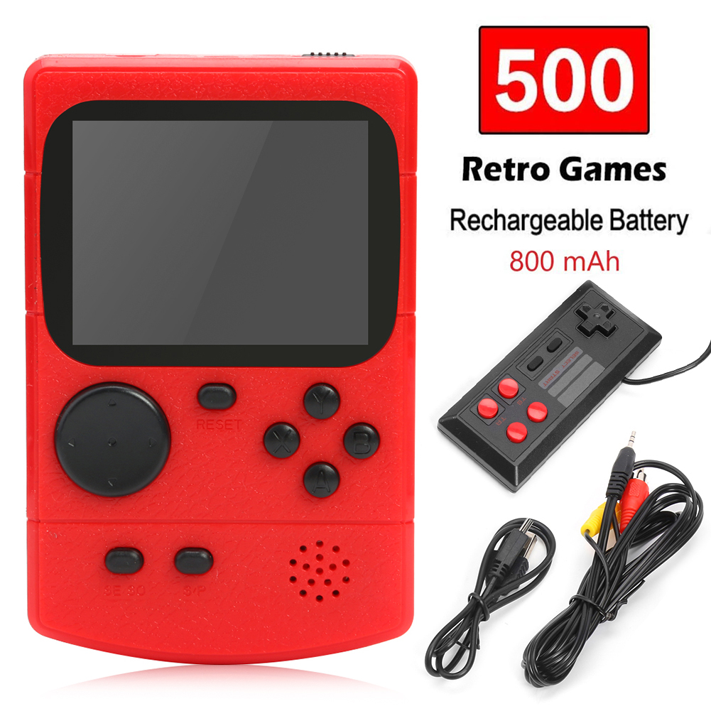 3 0 inch Portable Retro Game Console Handheld Game Player Built-in 500 Games Handheld Pocket Gaming Player gift for children