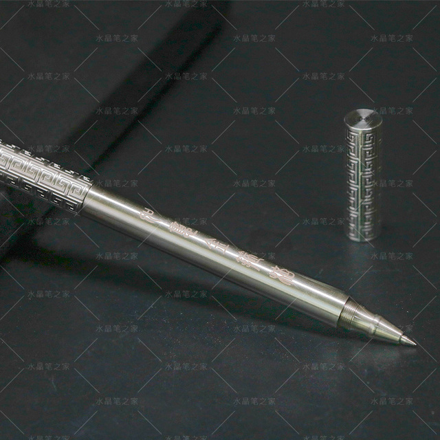 Golden Cudgel Creative Rollerball Pen Copper Dazzling Metal 0.5mm Fine Point Black Ink Business Gift Pens with Original Box