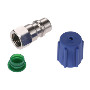 Image 4 - Yetaha Car A/C 3/8 7/16 Straight Adapters R12 R22 To R134a With Removable Valve Core & Service Port Caps