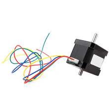 17HS4401S-D150S Double Shaft 48mm Nema 17 Stepper Motor 42 Motor 42BYGH 1.6A 45N.cm 4-lead With 30cm Wire for 3D Printer 1pc 4 lead nema17 stepper motor 48mm 78oz in 1 8a nema 17 motor 42bygh 1 7a 17hs8401 motor for cnc xyz