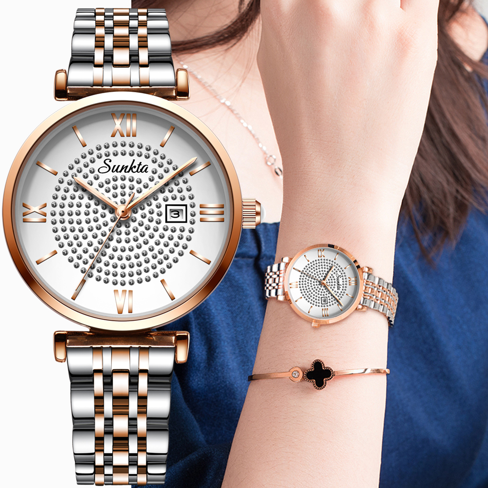 LIGE Brand SUNKTA Fashion Women Watch Business Quartz Watch Ladies Top Brand Luxury Female WristWatch Girl Clock Relogio Feminin(China)