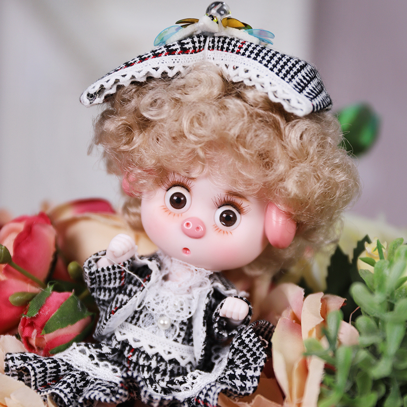 Dream Fairy 1/12 BJD DODO Doll Vintage and Perky style 14cm mini doll 26 joint body Cute children gift toy ob11 10