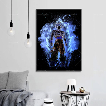 Dragon Ball Goku Canvas Painting Wall Art HD Print Anime Poster Modern Home Decor For Baby Bedroom Modular Picture Fashion Gift home wall art anime character picture hd prints poster modern canvas painting for baby bedroom living room decor for gift framed