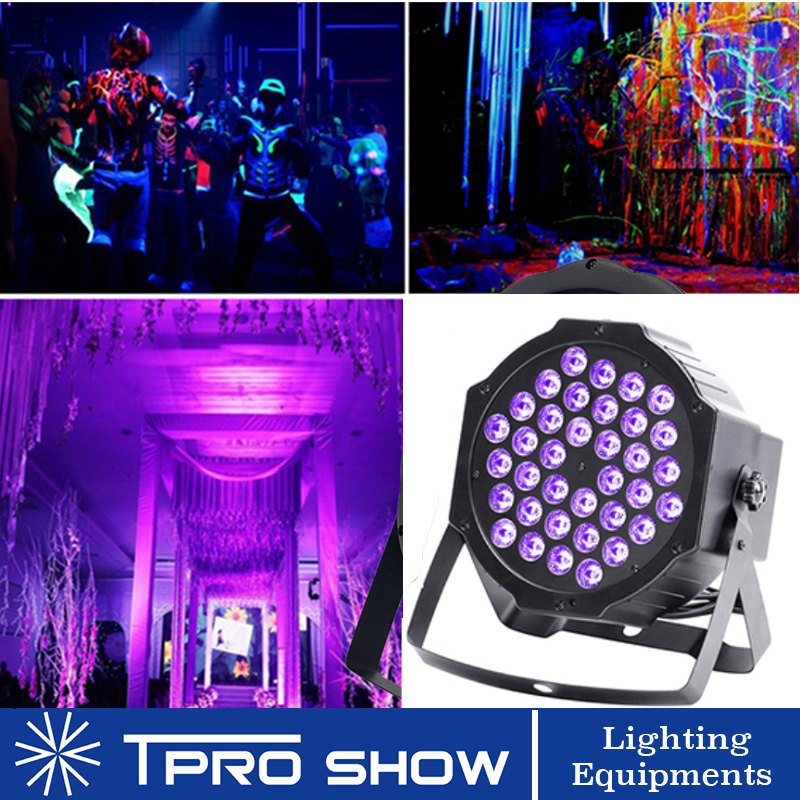 UV Disco Light Ultraviolet LED Strobe Dimming Mini Stage Lights Purple Lamp Projector DMX Blacklight for Small Party Pub DJ Club|Stage Lighting Effect| |  - title=