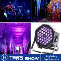 UV światło dyskotekowe ultrafioletowe stroboskop led ściemniania Mini światła sceniczne fioletowy projektor lampowy DMX Blacklight dla małych pub imprezowy DJ klub w Oświetlenie sceniczne od Lampy i oświetlenie na