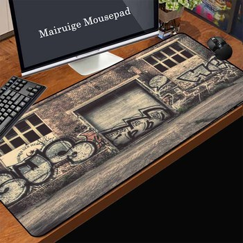 Mairuige Spain Low Price Promotion Large Gaming Computer Mouse Pad Factory Iron Door Graffiti Office Laptop Table Decoration Mat