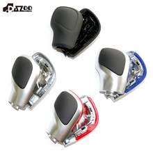 DAZOO-perilla de palanca de cambios cromada mate con cuero DSG, cubierta lateral, emblema DSG para VW Golf 6 7 R Passat B7 B8 CC R20 Jetta MK6 GLI