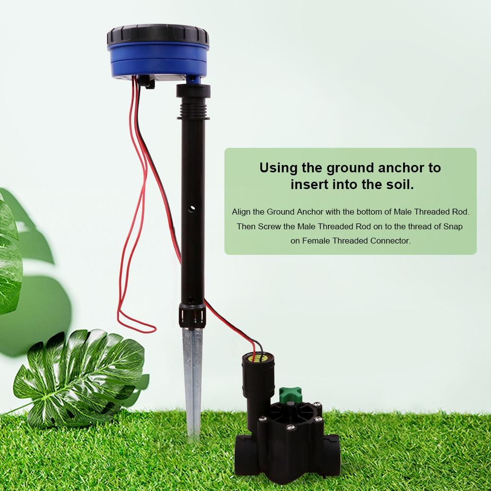 1 станция для автоматического полива сада, 3 В постоянного тока, контроллер на входе, Таймер подачи воды, система полива, используемая с солен...